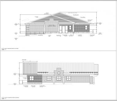 Renovation drawings for Manor Park Community Centre