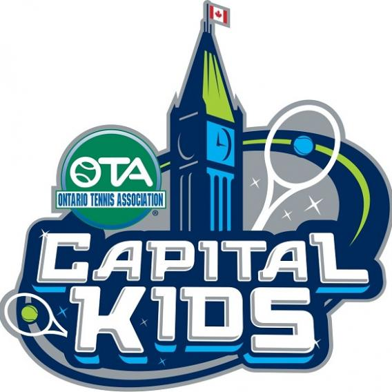 Capital Kids logo featuring parliment building and tennis raquet