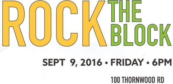 Rock the Block on September 9!